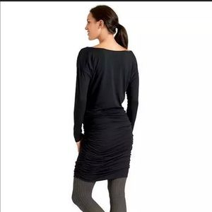 Athleta Solstice Cowl Ruched Dress